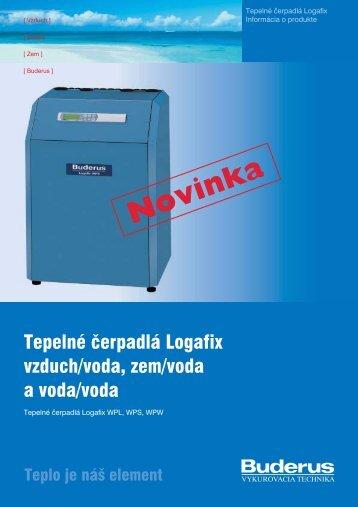 Tepelné čerpadlá Logafix vzduch/voda, zem/voda a voda ... - Buderus