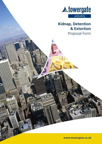 Kidnap, Detention & Extortion - Towergate Underwriting