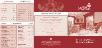 Weihnachtsfeier - Hotel Schloss Seefels