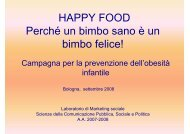 Happy Food Prevenzione dell'obesità infantile - Marketing sociale e ...