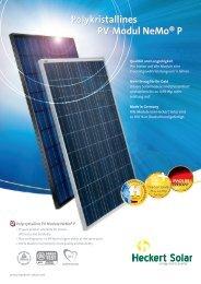 Polykristallines PV-Modul NeMo® P - Enatek