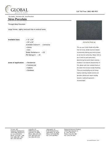 Siros Porcelain - Global Granite & Marble