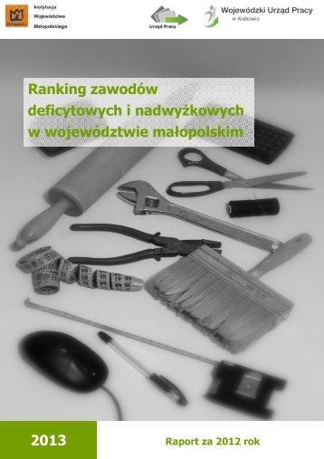 ZDIN w Małopolsce w 2012 r. - Wojewódzki Urząd Pracy w Krakowie