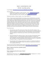 Urban Politics and Policy - Local Governance Research Laboratory