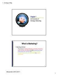 What is Marketing? - University of Houston-Victoria