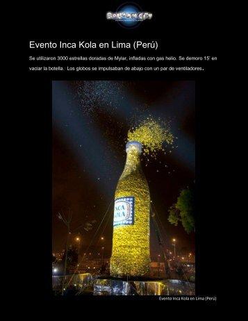 Evento Inca Kola en Lima (Perú) - Balloon City Uruguay