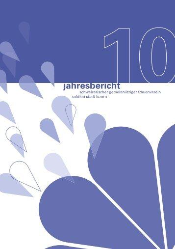 Jahresbericht 20010 in PDF-Format - Schweizerischer ...