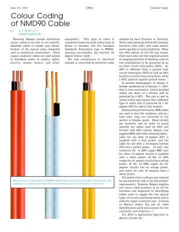 Colour Coding of NMD90 Cable - Canadian Copper and Brass ...