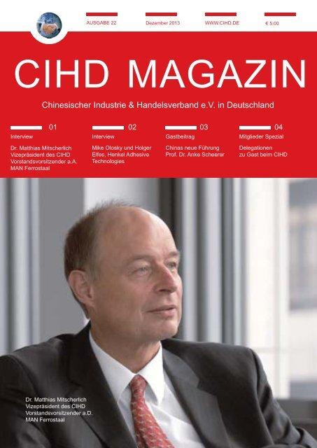 CIHD Magazin 22 12/2013 - Chinesischer Industrie- und ...