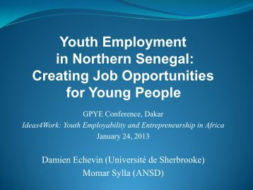 Understanding Poverty Reduction in Senegal: A ... - IYFLive.net