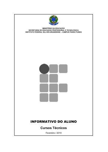 Informativo do Aluno - Campus Passo Fundo - Instituto Federal Sul ...