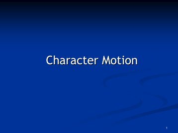 Character Motion
