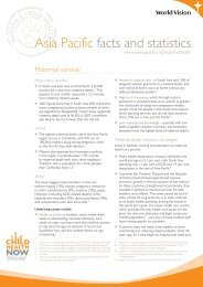 Asia Pacific facts and statistics - World Vision