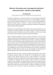 Memoriav, Association pour la sauvegarde du patrimoine ...