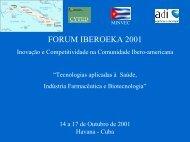 Fórum CYTED-IBEROEKA 2001 - Adi