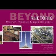 Beyond Rhetoric University - Community Engagement in Victoria