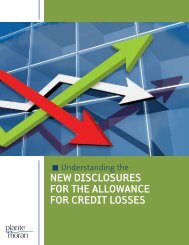 new disclosures for the allowance for credit losses - Plante Moran
