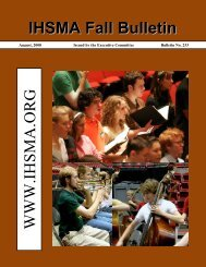Fall Bulletin No. 233 - August 2008 - Iowa High School Music ...