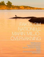 Fakta om nationell marin miljöövervakning