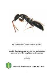 Využití Cephalonomia tarsalis pro biologickou ochranu ... - VÚRV v.v.i