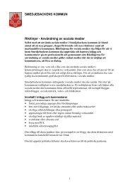 Riktlinjer Sociala medier - Smedjebackens kommun