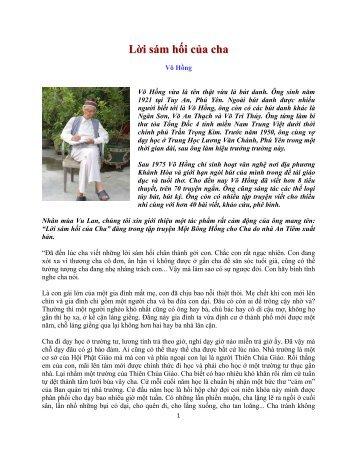 Lời sám hối của cha - Trang Nhà