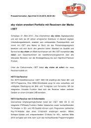 sky vision erweitert Portfolio mit Receivern der Marke i ... - PresseBox