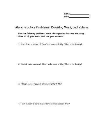 Printables Density Worksheet Chemistry density worksheet chemistry honors intrepidpath in context answers education worksheets