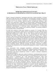 założenia do nowelizacji ustawy o promocji zatrudnienia i ...