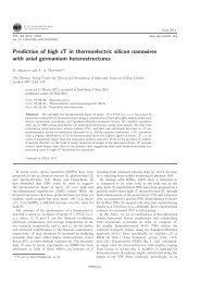 Prediction of high zT in thermoelectric silicon nanowires with axial ...