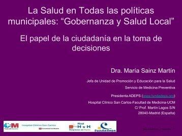 """""""Gobernanza y Salud Local: El papel de la ciudadanía en la toma de ..."""