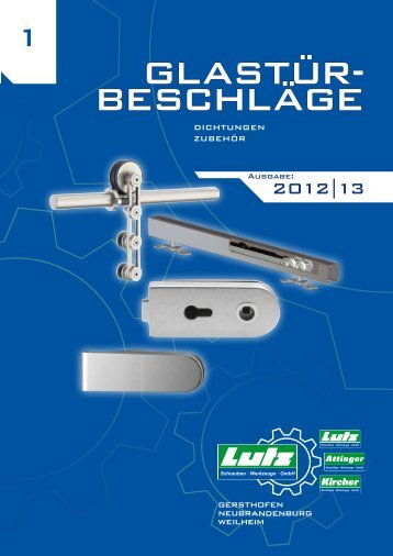 Glastür- beschläGe - Eduard Lutz Schrauben-Werkzeuge GmbH
