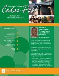 October 2010 Volume 10, Number 8 - Cedar Valley College