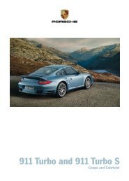 911 Turbo and 911 Turbo S