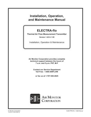 ELECTRA-flo - V1.5x - 9-19-11.PMD - Air Monitor Corporation