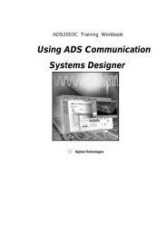 Using ADS Communication Systems Designer