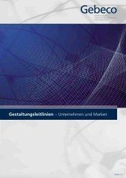 Gestaltungsleitlinien – Unternehmen und Marken - Gebeco