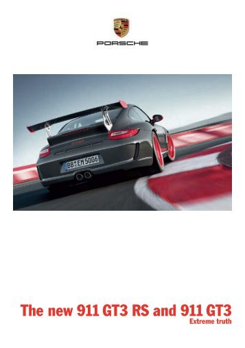 The new 911 GT3 RS and 911 GT3
