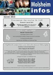 Molsheim Infos janvier 2013