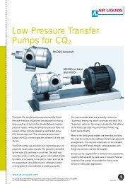 Low Pressure Transfer Pumps for CO2 - Air Liquide UK