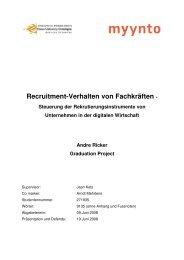 Recruitment-Verhalten von Fachkräften - Steuerung der - PresseBox