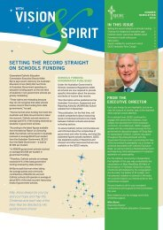 With Vision and Spirit - Queensland Catholic Education Commission