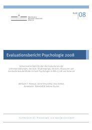 Evaluationsbericht Psychologie 2008 - Psychologie - Westfälische ...