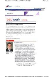 bauwerk online nr. 24 - Cemex Deutschland AG