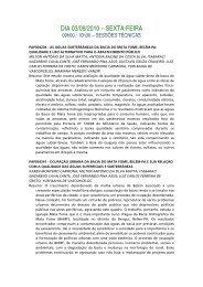 DIA 03/09/2010 – SEXTA-FEIRA - ABAS