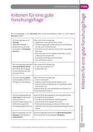 Kriterien einer Forschungsfrage - BRG solarCity Linz