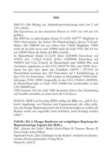 Weimarer und NS-Zeit 1930-33 - ACTIO Berlin