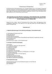 Prüfungsordnung für den Bachelorstudiengang