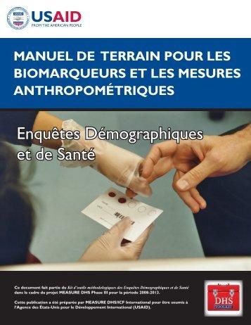 Manuel de Terrain pour les Biomarquers et les ... - Measure DHS