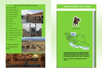 Riding and Cultural Tours in Persia